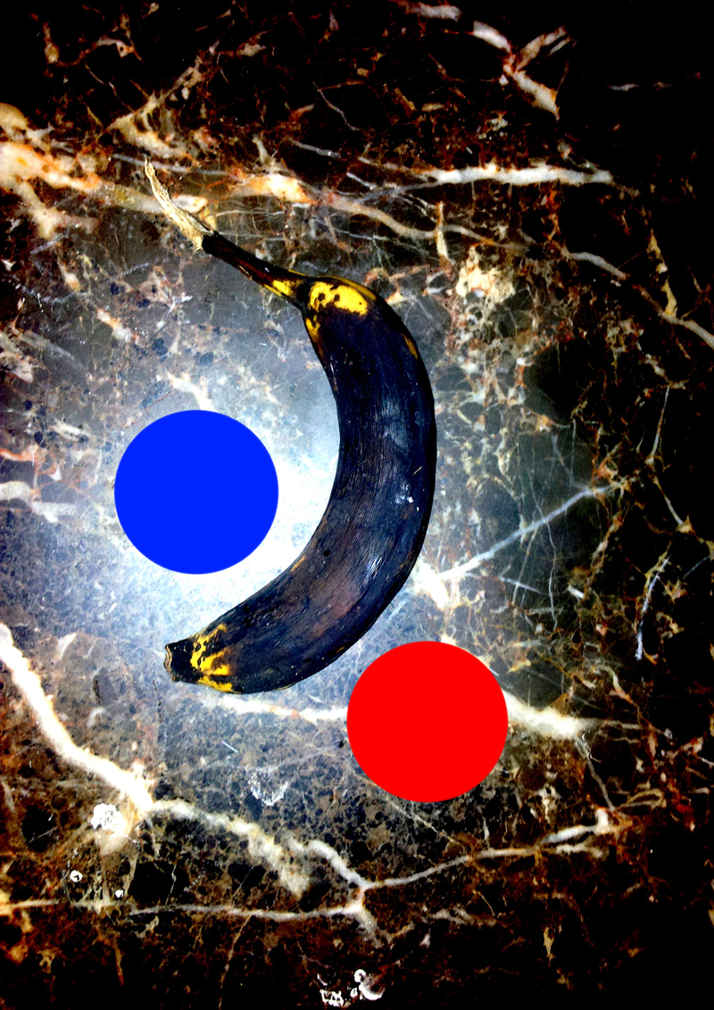 ROTTEN BANANA ON UGLY MARBLE