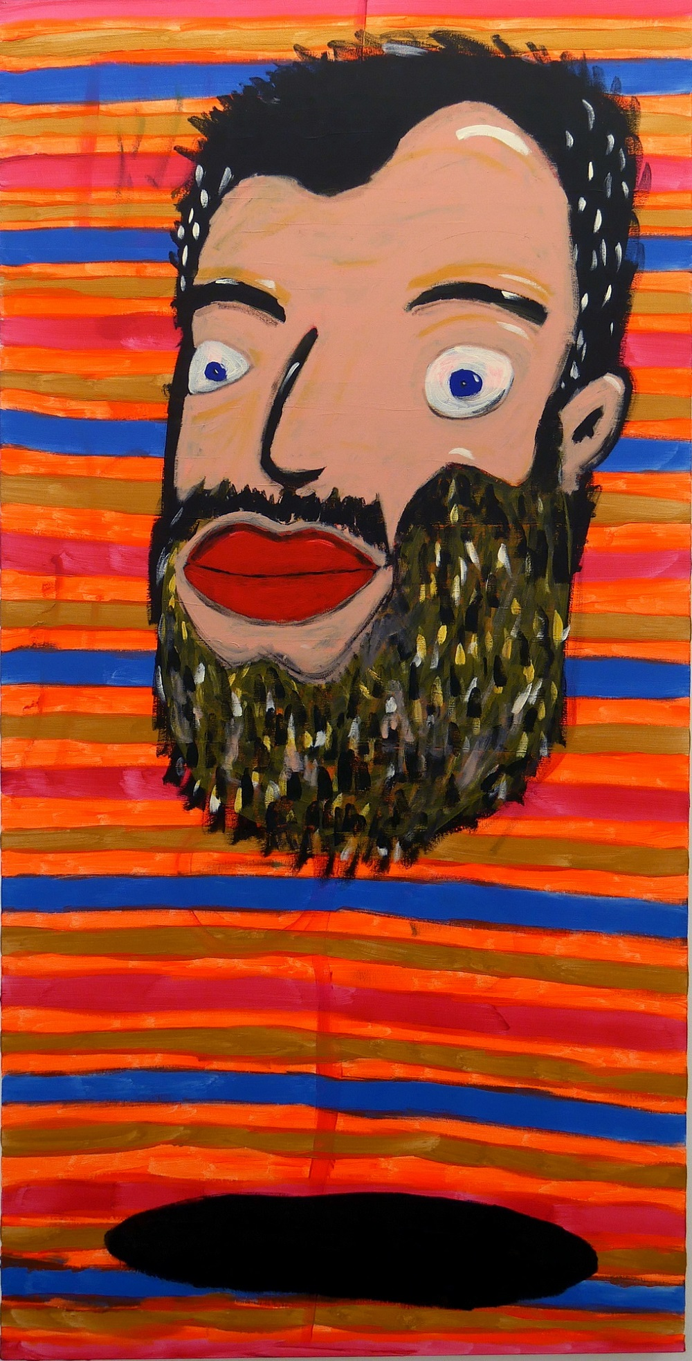 Fish Self Portrait_2015_acrylic on canvas_200x100 cm
