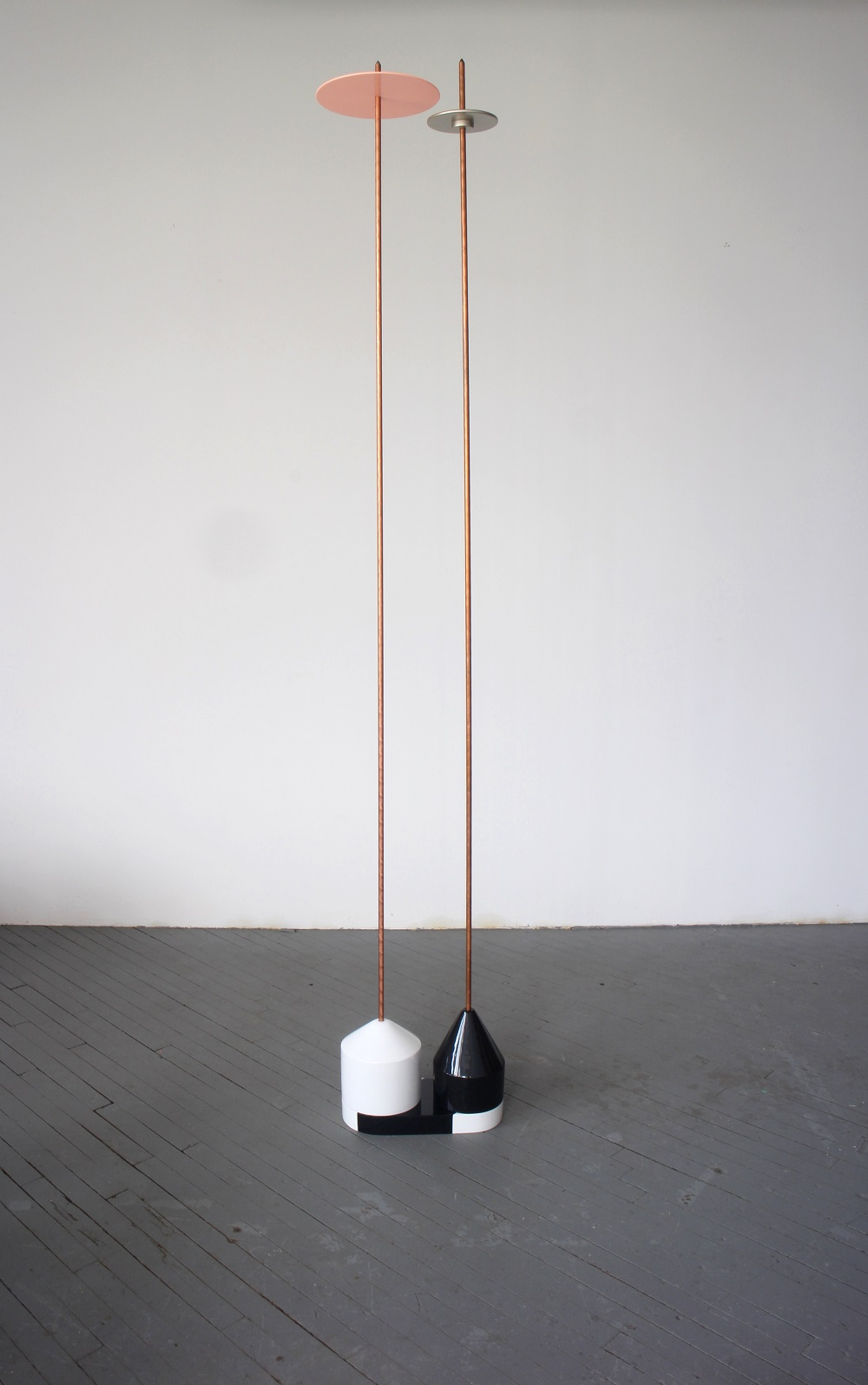 Formula3, 2016, Copper coated steel rod and painted MDF, 244x40x26 cm