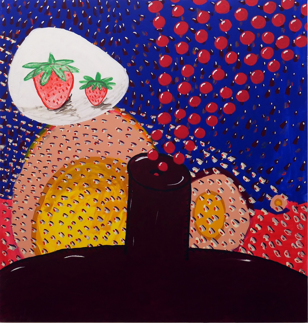 The Dream of Father Strawberry and His Son (for Amos)_2015_acrylic on ca...