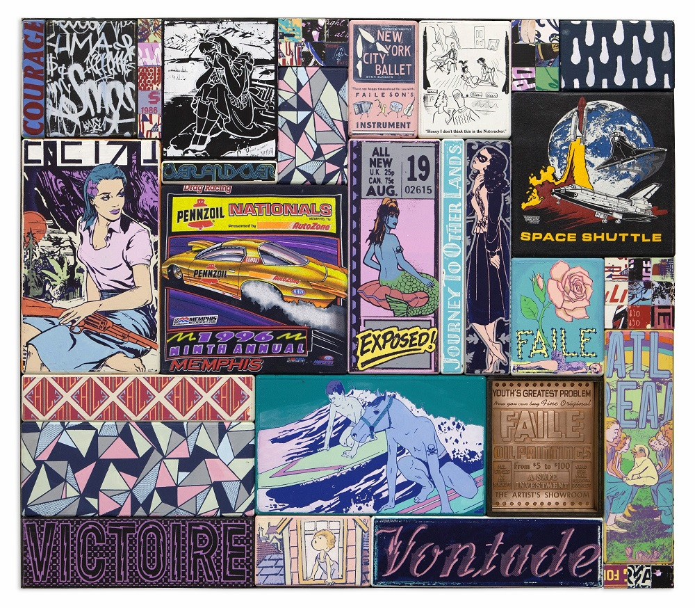 faile-memphis-courage-2013-124x145x7-cm-acrylic-silkscreen-ink-copper-and-fabric-on-wood-steel-frame