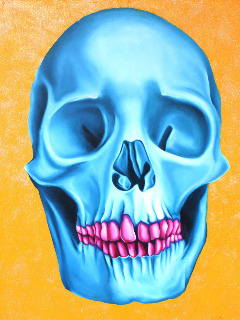 Skull, 2006, 120x80cm, oil on canvas
