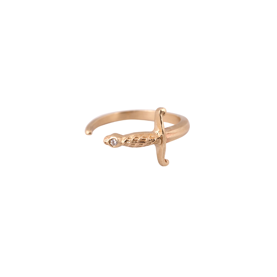 14K Sword Ring Diamond_2200 nis