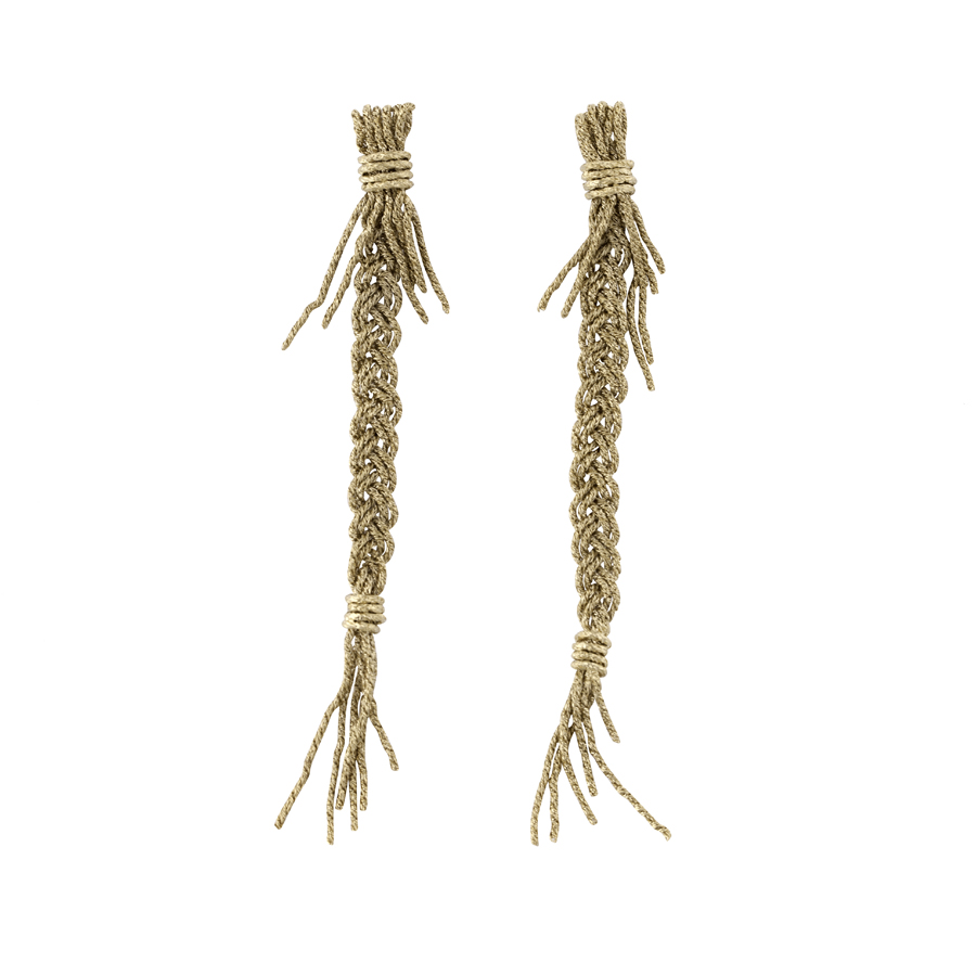 Gold Braids Earrings_1300 nis