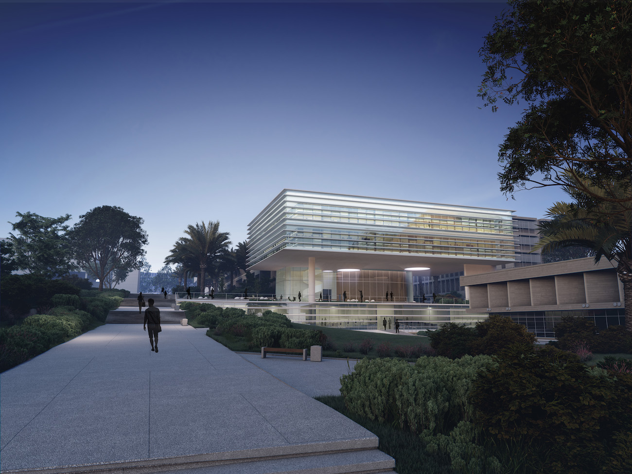 Renderings of the upcoming Lorry Lokey Management Building at Tel Aviv University, slated for completion in 2018.